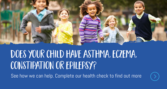 Does your child have Asthma, Eczema, Constipation,  or Epilepsy? See how we can help. Complete our survey to find out more.